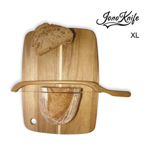 Oak XL JonoKnife bow saw slicing sourdough