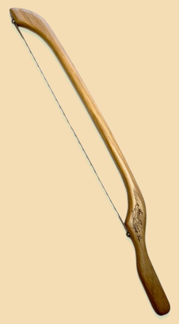 JonoKnife Oak XL fiddle bow bread knife